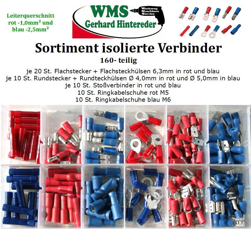 Sortiment Isolierte Verbinder 160-teilig