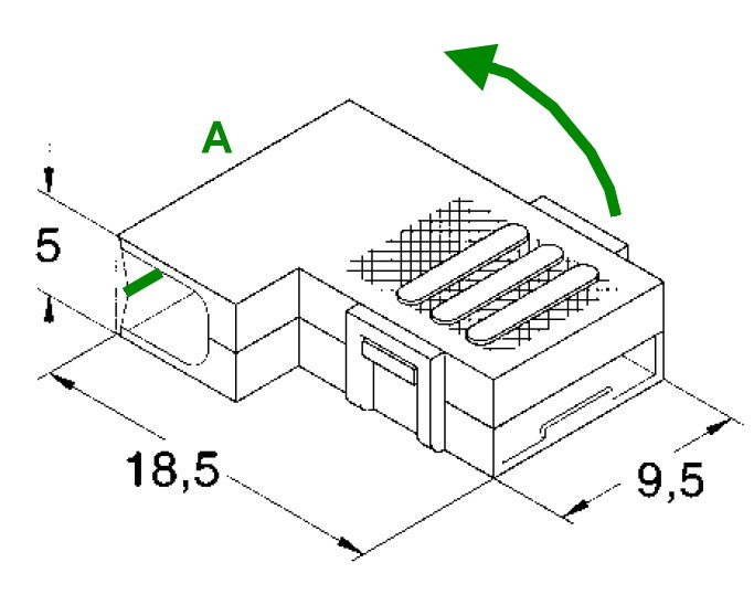 Isolierhülsen für Winkelflachsteckhülsen