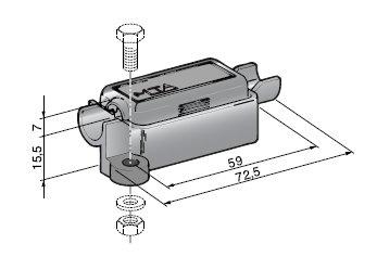 Sicherungshalter für Streifensicherungen, 1 Stück