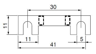 Streifensicherungen 5 Stück