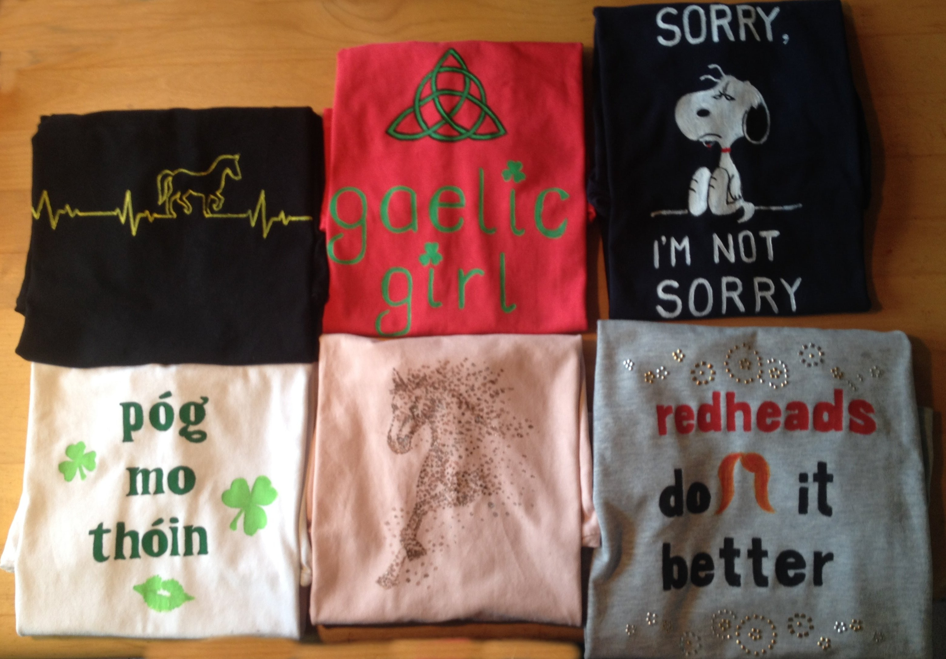 T-Shirt nach Kundenwunsch bemalt