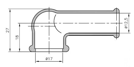 Schutzkappe Pfeife  12,5mm / 17,0mm, 1 Stck.