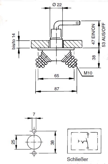 Batterie-Hauptschalter 24V / 100A / 500A