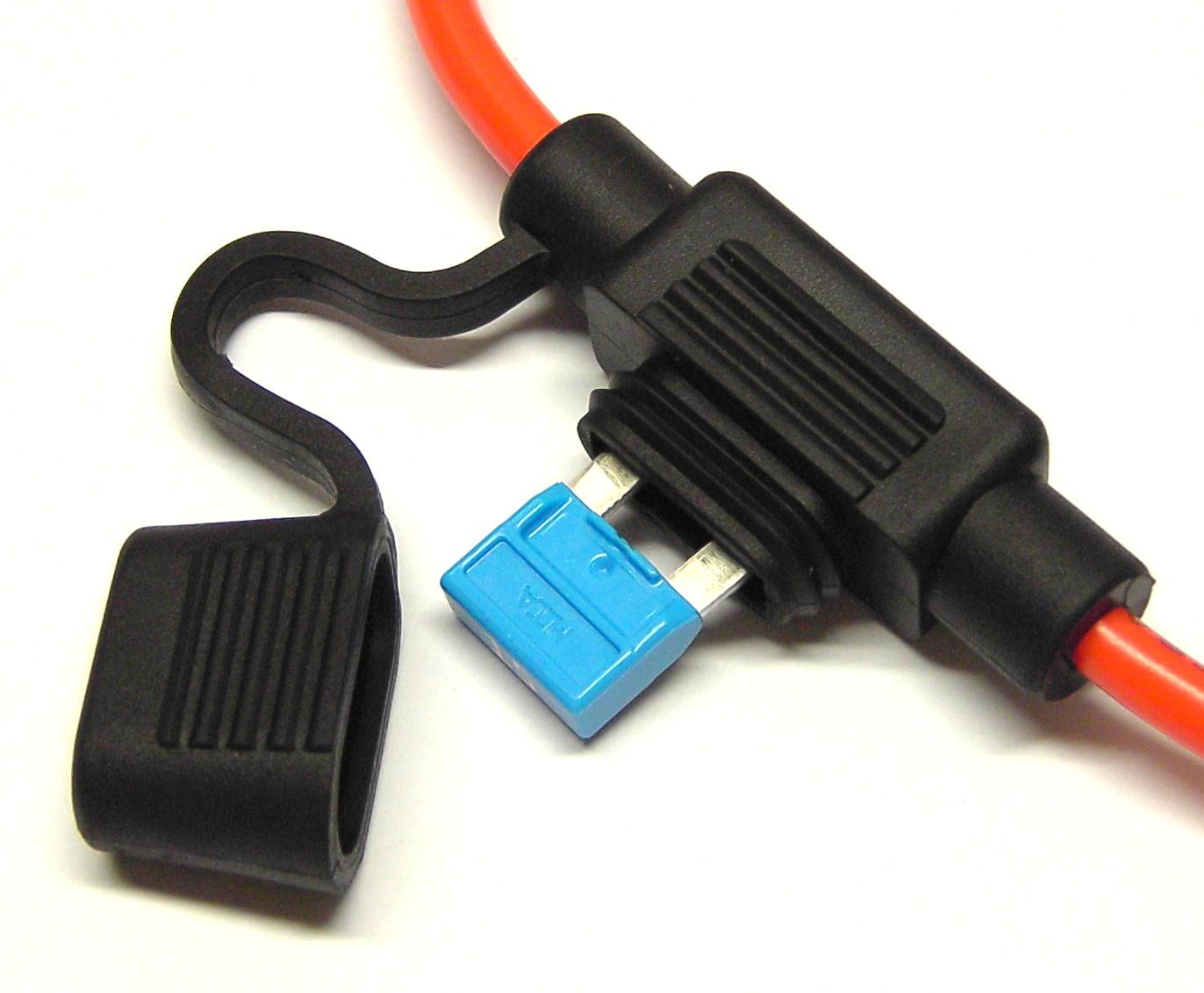 Sicherungshalter Uni wasserdicht 4mm² für Flachsicherungen 1 Stück