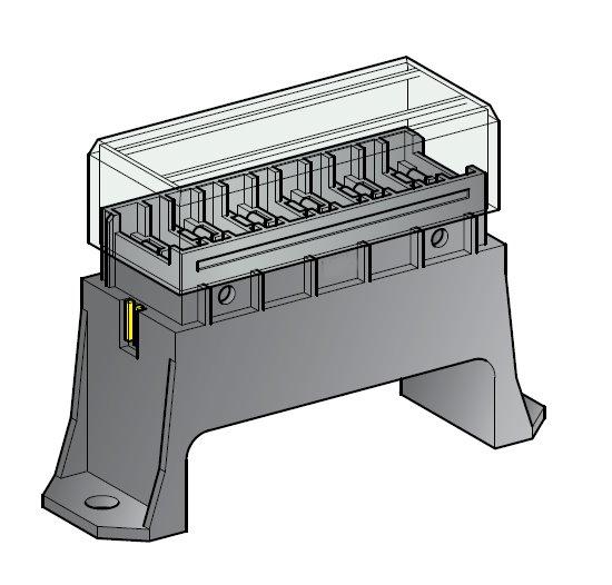 Sicherungsdose S 6-fach für Flachsicherungen Uni 1 Stück