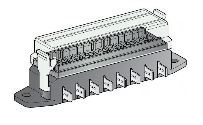 Sicherungsdose S 8-fach für Flachsicherungen Uni 1 Stück