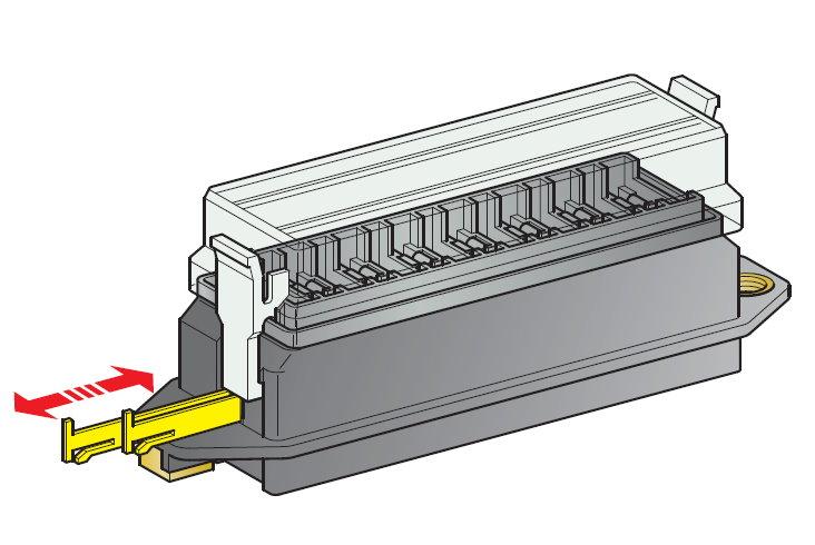 Sicherungsdose R 8-fach für Flachsicherungen Uni 1 Stück