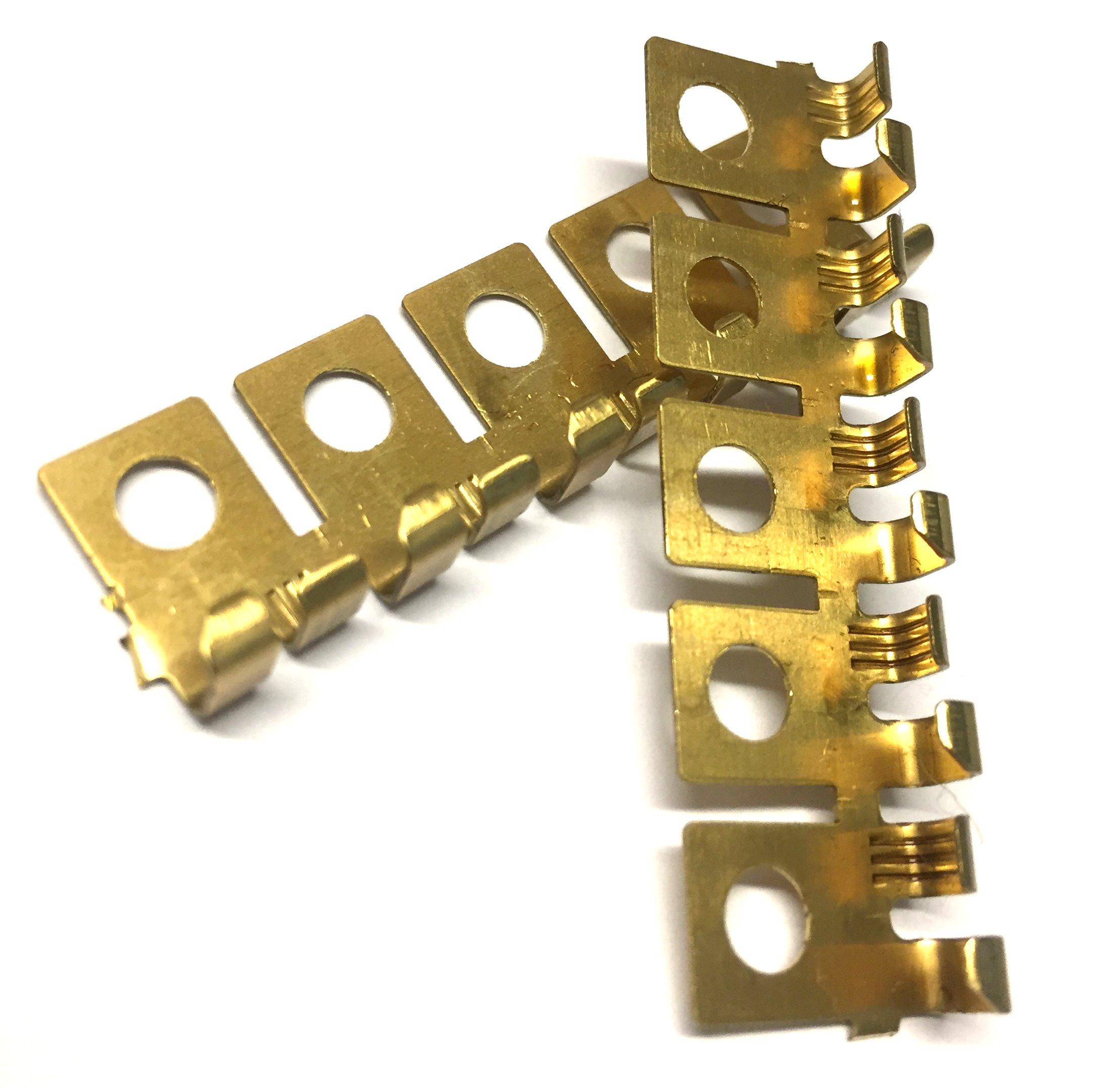 Ringkabelschuhe abgewinkelt, Messing, -1,5mm², d=4,3mm