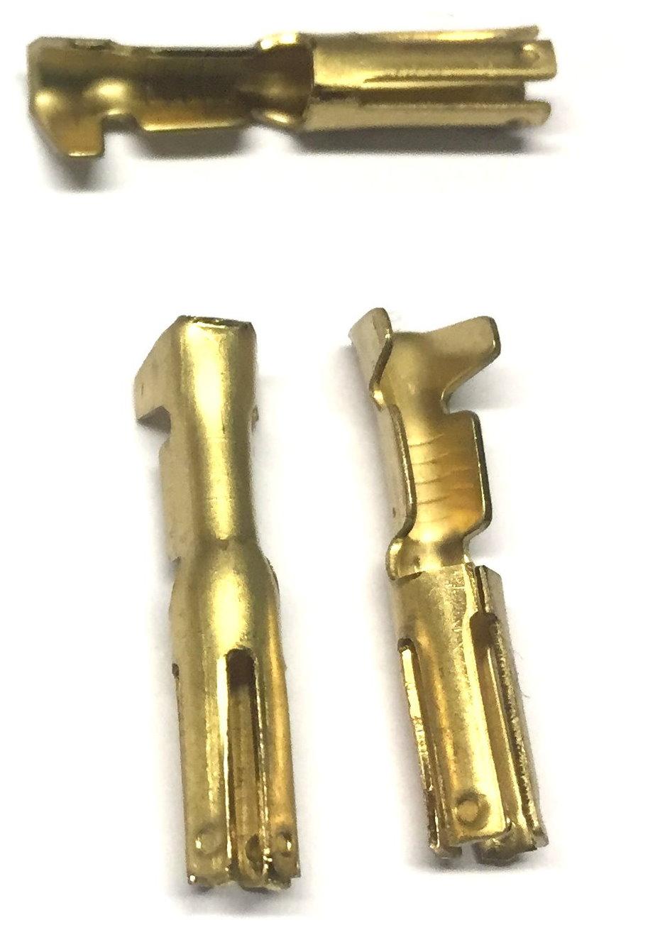 Rundsteckhülsen Messing -2,5mm², d= 3mm
