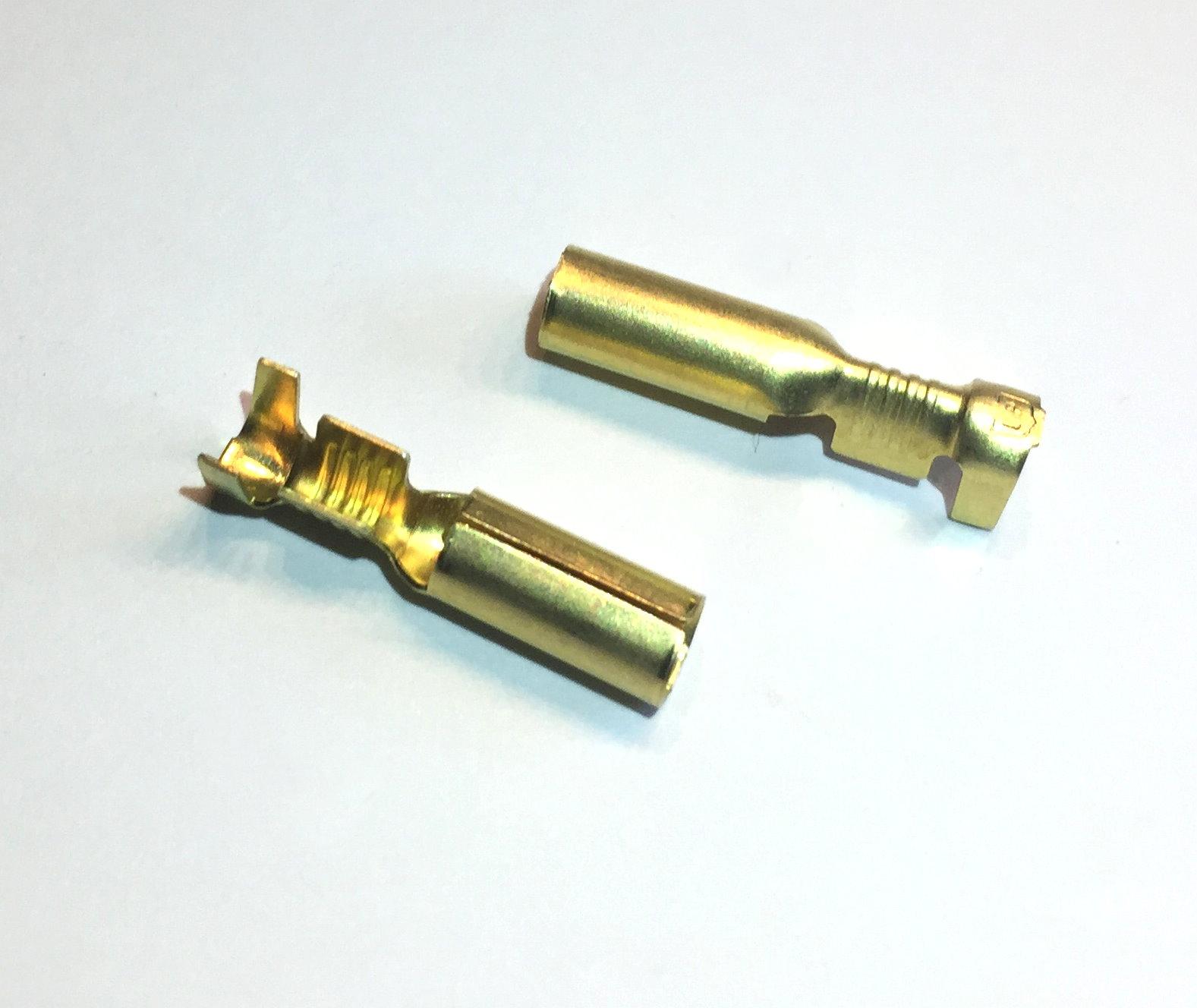 Rundsteckhülsen Messing -2,5mm², d= 4mm
