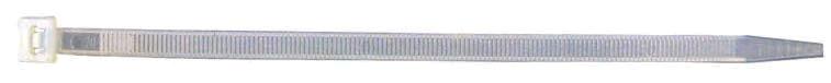 Kabelbinder Kunststoff 200 x 4,8mm, schwarz oder natur