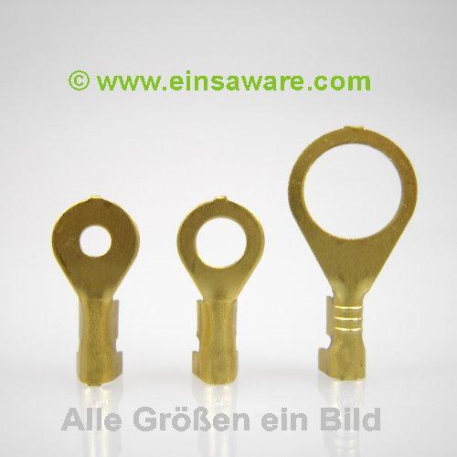 Ringkabelschuhe offen -2,5mm² Messing