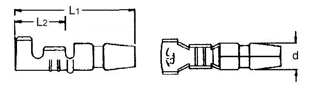 Japanstecker -1,5mm², Messing blank oder verzinnt