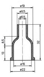 Schutzkappen SKA 160,  2 Stück