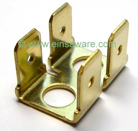 Doppel - Flachstecker 1-, 2-, 3-, 4- oder 5-fach Messing