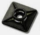 Klebesockel schwarz 10 St. 27x27mm