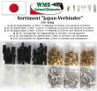 Sortiment Japan-Verbinder 150-teilig