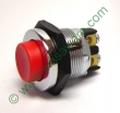Drucktaster Metall 24V / 12,5A mit rotem Knopf