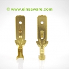 Tab with snap-in pin, brass -2,5mm²