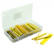 Assortment shrinking tubes yellow 100-piece