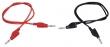 Messleitungs-Set 1mm²,  50cm, rot + schwarz, 1 Paar