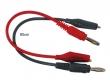 Messleitungs-Set 1,5mm²,  80cm, rot + schwarz, 1 Paar
