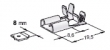 Winkel-Flachsteckhülsen mit Verrastung 8,0mm -2,5mm²