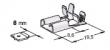 Winkel-Flachsteckhülsen 8,0mm -2,5mm²