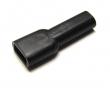 Schutztüllen für Flachsteckhülsen 4,8mm Weich-PVC schwarz