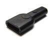 Schutztüllen für Flachsteckhülsen 6,3mm Weich-PVC schwarz