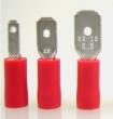 Flachstecker -1,0mm² rot isoliert 50 Stück