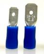 Flachstecker -2,5mm² blau isoliert 50 Stück