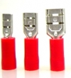Blade receptacle -1,0mm² red insulated 50 pcs.