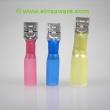 Flachsteckhülsen 6,3mm schrumpfisoliert 10 Stück