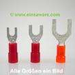 Gabelkabelschuhe -1,0mm² rot isoliert