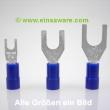 Gabelkabelschuhe -2,5mm² blau isoliert