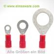 Ringkabelschuhe -1,0mm² rot isoliert