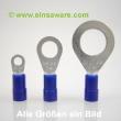 Ringkabelschuhe -2,5mm² blau isoliert