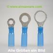 Ringkabelschuhe -2,5mm² blau schrumpfisoliert 10 Stück