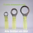 Ringkabelschuhe -6,0mm² gelb schrumpfisoliert 10 Stück