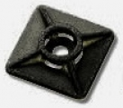 Klebesockel schwarz 10 St. 18x18mm